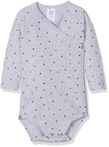 *Sanetta Baby-Jungen Wrapover 1/1 Allover Formender Body, Grau (Hellgrau Melange 1646), 62*