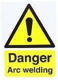 Señal de seguridad rígida de soldadura Danger Arc, tamaño A4