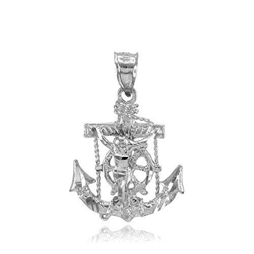 10-k-white-gold-mariner-s-kreuz-mit-kruzifix-anhanger