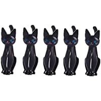 Jeerui 5 Pcs Beutelclips Verschlussklammer Dichtungs Klipp kreative Plastikwäscheklammer Netter Karikatur Katze Haushalts Taschen Klipp (3 Farben)