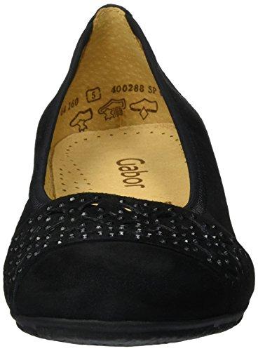 Gabor Damen Fashion Geschlossene Ballerinas Schwarz (schwarz 17)
