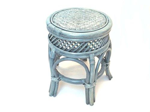 Sessel/Stühle 'Tabouret Tabouret en rotin, Repose-Pieds, bleuâtre