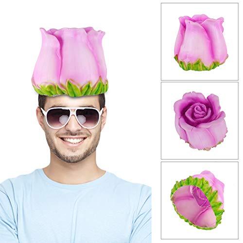 Zoylink Rosenhut Karneval Party Hut Lustige Dekorative Blume Cosplay Hut Kostüm ()