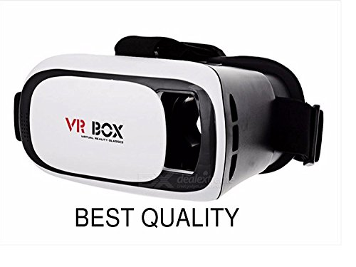 Clarks VR BOX 2.0 Virtual Reality Glasses, VR BOX, 2017 3D VR Headset for SmartPhones – Apple iPhone 5S, SE, 6, 6S, 7, 7 Plus, Samsung Galaxy, OnePlus, Redmi, Moto, LG, Sony, Coolpad, HTC, etc