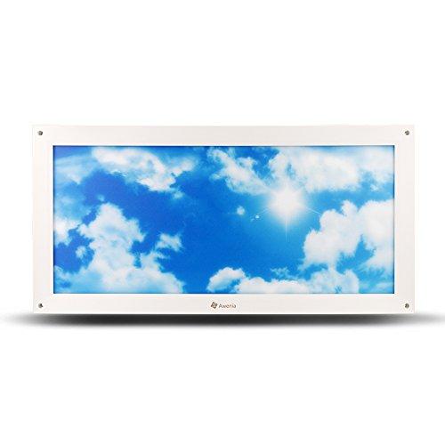 24W LED Deckenleuchte Dimmbar 30x60 Awenia Panel-Licht Neutralweiß/Kühles Weiß (4000K-6500K) Flimmerfrei Deckenlampe 2400lm Wandlampe für Schlafzimmer Küchen Esszimmer Wohnzimmer Balkon Flur Korridor Büro