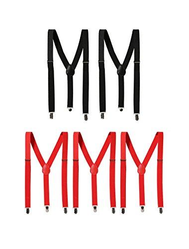 Preisvergleich Produktbild sourcingmap® Unisex elastische Y Form Rücken einstellbar Metall Klemmen Hosenträger