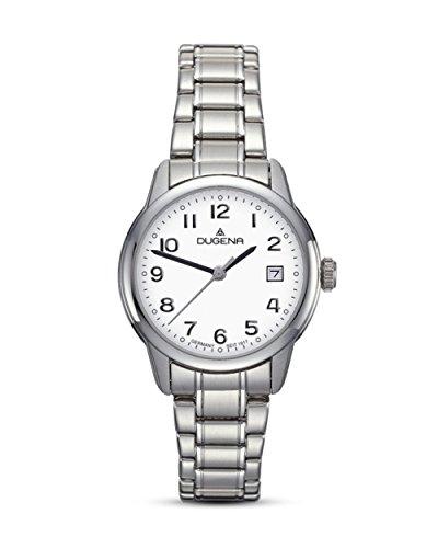 Dugena Damen Armbanduhr Vega Edelstahl 29mm silber
