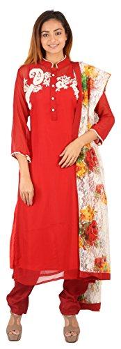 Vedika Select Women's Georgette Semi-Stitched Salwar Suit Set_Multi-Coloured_Freesize