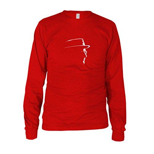 Herren Langarm T-Shirt, Größe: L, Farbe: rot (Breaking Bad Meth Tasche Kostüm)