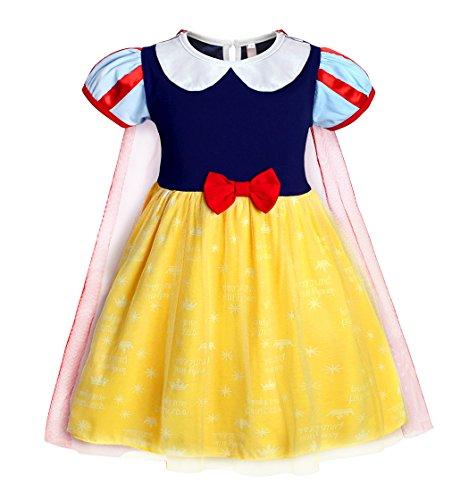 AmzBarley Schneewittchen/Anna Kostüm Kinder Mädchen Verkleidung Prinzessin Kleid Schick Party Kleider Halloween Karneval Cosplay Geburtstag Ankleiden Kleidung mit ()