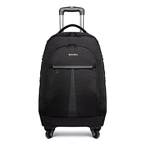 WDGT 4 Runden Trolley Tasche Business Laptop Rucksack Flying Approved Leichte Wasserdichte Reise Trolley Tasche Laptop Roller Bag -