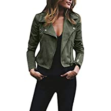 outlet store 05d0e bdc94 Giacca In Pelle Biker - Verde - Amazon.it