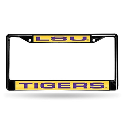 Louisiana State LSU Tigers NCAA Black Metal Laser Cut License Plate Frame by Rico