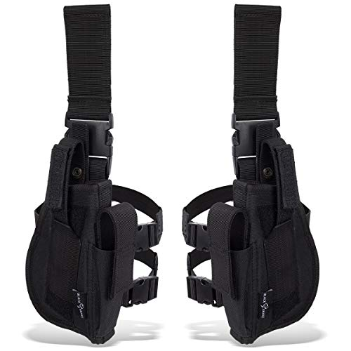 Blacksnake® Tiefziehholster Set rechtes + linkes Beinholster Schwarz OneSize