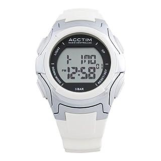 Acctim Radio Controlled Watches Unisex Colara Digital Watch in White