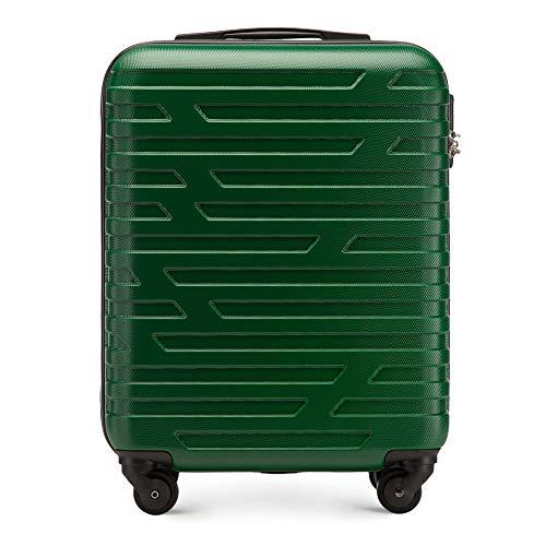 WITTCHEN Trolley Bagaglio a mano - Valigia rigida | Colore: Verde | Materiale: ABS | Dimensioni: 54x39x23 | Peso: 2,7 kg | Capacità: 38 L | 4 ruote
