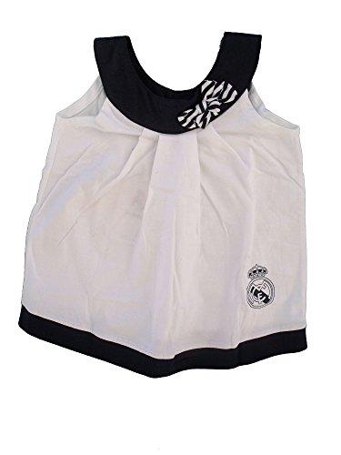 Vestido Real Madrid Niñas Blanco/Negro (12 Meses)
