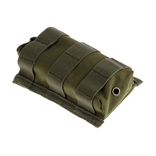 HWZ Tactical Molle Rifle Cartridge M4/M16 Open Top Mag Pouch (Green) -