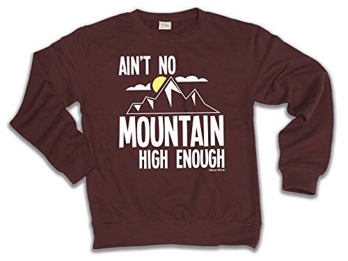 Ain`t No Mountain High Enough Skiing Wahl von Hoodie oder von Strickjacke Herren Damen Unisex (Sweater) Burgundy