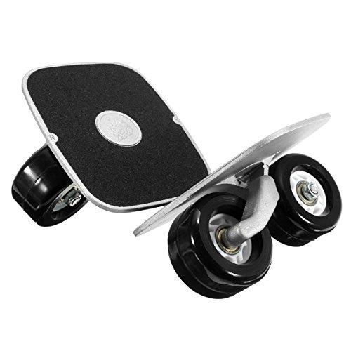 Drift Skates ,CAMTOA Außen Aluminium Freeline Drift Skates Skating Flashing mit vier Räder einem Schraubenschlüssel Recht&links Schwarz