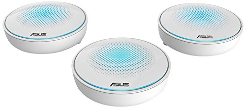 Price comparison product image ASUS Lyra MAP-AC2200 Complete Home Wi-Fi Mesh Tri Band System (Upto 6000 sq feet,  Corner to Corner Coverage,  Commercial-Grade Security,  AC2200 Router,  Range Extender,  App Easy Setup - 3-Pack)