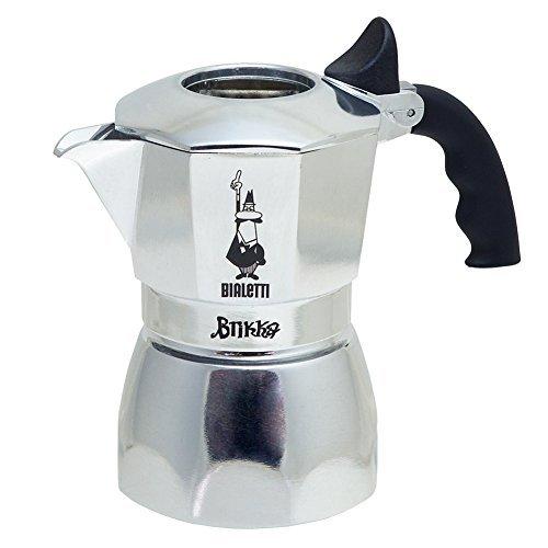 Bialetti 6188 Espressokocher 2 Tassen, Aluminium, silber (Bialetti Espressomaschine Dichtung)