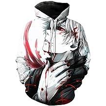 Sudadera con Capucha De Manga Larga con Estampado Animal Tamaños Cómodos De Tokyo Ghoul 3D Sudadera