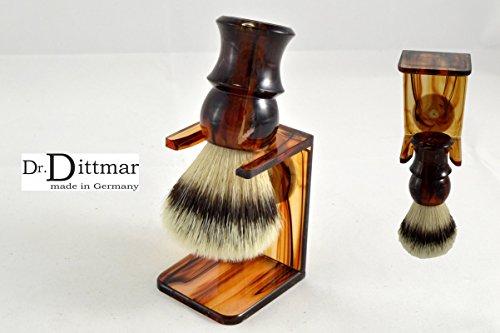 Dr. Dittmar veganas (pelo sintética) Brocha de Afeitar Color Crema con soporte