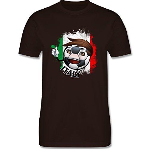 EM 2016 - Frankreich - Fußballjunge Italien - Herren Premium T-Shirt Braun