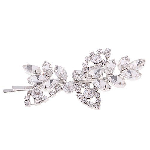 Gazechimp Vintage Perlen Kopfstück Blume Stirnband Haarbänder Haarnadel Haarspange Haarschmuck Hochzeit - Klar Rebe Haarclip