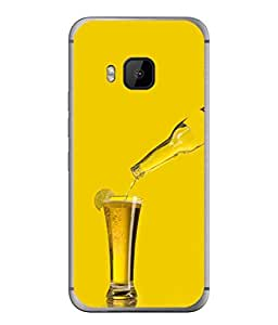 PrintVisa Designer Back Case Cover for HTC One M9 :: HTC One M9S :: HTC M9 (Drink Wine Overflow Glass Lemon Water Sexy Beer Glass)