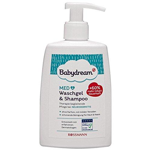 Babydream MED Waschgel & Shampoo 200 ml Therapie begleitende Pflege bei Neurodermitis, ohne Parfum, mit milden Tensiden, schonende Reinigung für Haut & Haare