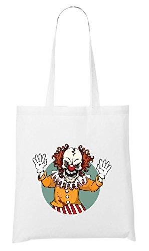 Bösewicht Für Frauen Kostüme (Evil Clown Bag White Certified)