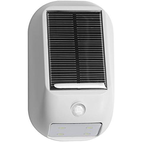 LE Lámpara LED Solar con sensor Blanco frío, aplique para exteriores, entrada, puerta, patio, jardín