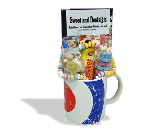 MOD Target Mug with a scooter full of 60's retro sweets. 630gms