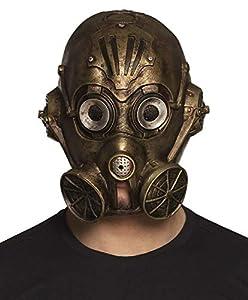 Boland 54537 Máscara de Cabeza Gaspunk, Bronce
