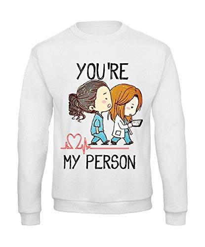 """alsausschnitt und Schriftzug """"You're my person"""", FU_P_62_myperson_1, Weiß, FU_P_62_myperson_1 S (Einzigartige Outfit-ideen)"""