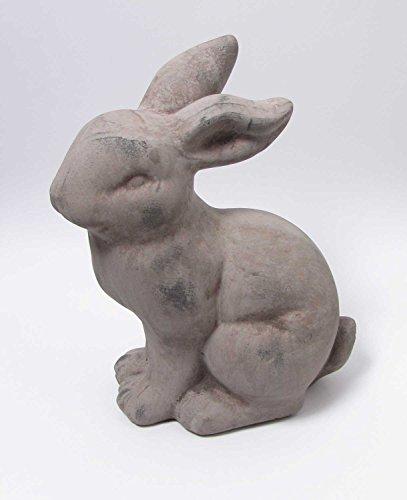 Deko-Hase Keramik grau Deko-Tier H 24 cm Hase Kaninchen Oster-Deko Deko-Figur (Hase Keramik Kaninchen)