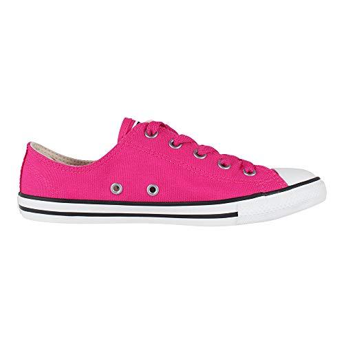 Converse Damen Chuck Taylor CTAS Dainty Ox Sneakers, Mehrfarbig Pink Pop/Silver 673, 42.5 EU (Damen Converse All Silber Star)