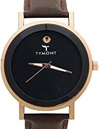 TYMONT Classic Fancy Analog Round Dial Brown Leather Belt Formal Wrist Watch For Men's/Boys