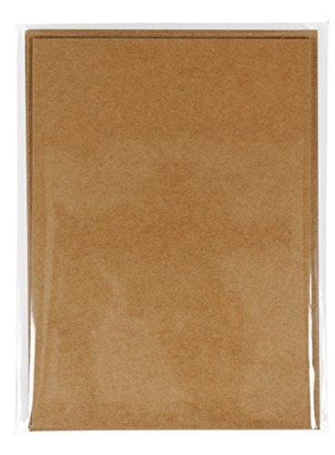 Kraft DIY flach 12,7x 17,8cm Karten & Umschläge von Craft Smart, 6Sets (Hochzeit Brunch Einladungen)