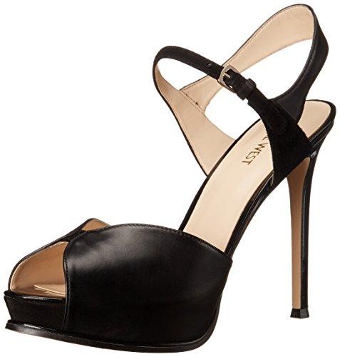 Nine West Cruzeto cuir Sandales à talons Black/Multi