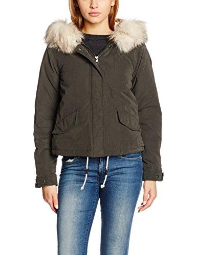 ONLY Damen Jacke onlSKYLAR FUR Parka CC OTW, Grau (Peat), 40 (Herstellergröße: L)