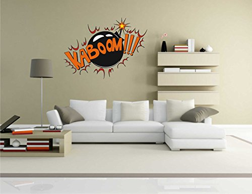 Wandtattoo Comic 105 – Lustiges Motiv KaBoom!!! – Wandaufkleber
