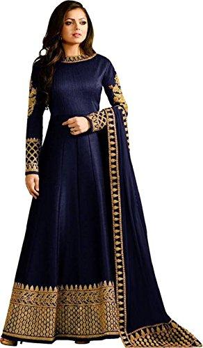 Globalia Creation Women's Tapeta Silk Salwar Suit Set (Multi_Free Size)