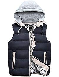 Saoye Fashion Chaleco para Niños con Capucha Que Adelgaza Abrigo Abajo Ropa Chaqueta Abrigo De Invierno