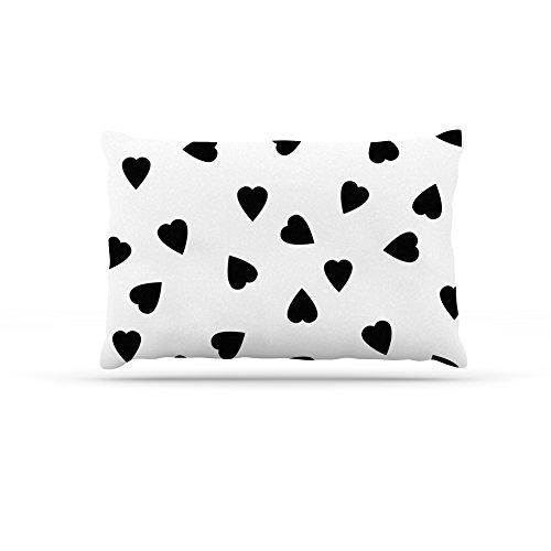 Kess eigene Suzanne Carter Herzen schwarz Hundebett aus Fleece, 50von 152,4cm weiß (Carters Herz)