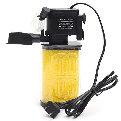 13w Luft (YTCWR Pumpe Aquarium Tauchen Aquarium Luftreiniger Eingebauter Wassertank Luft Sauerstoffpumpe (13W 800 L/H))