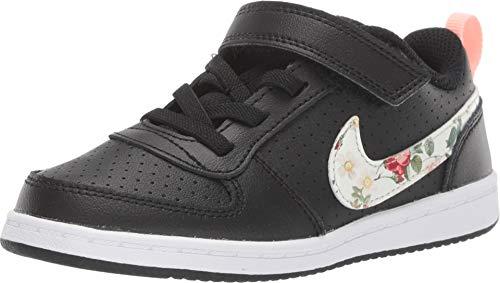 Nike Baby Mädchen Court Borough Low VF (TDV) Sneaker, Mehrfarbig (Black/Pale Ivory-Pink Tint 001), 26 EU