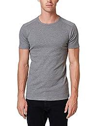 SCFEL Kleinkind 3 St/ück Kleidung Set Baby M/ädchen R/üschen Rosa T-Shirt Tops Silber PU Leder Hosen Schleife Hut